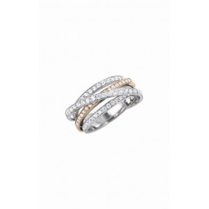 Bague Reflet 4 rangs diamants